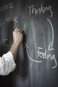 Handwriting on blackboard: thinking, feeling